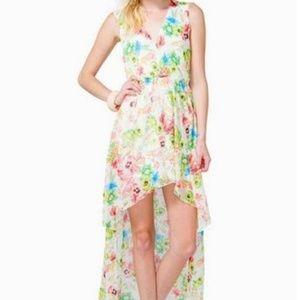 Dresses & Skirts - NWOT Floral Hi Low Crochet Back Dress Sz L Juniors